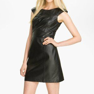 French Connection Black Leather Dress Size 2
